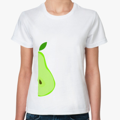 Классическая футболка Половина груши