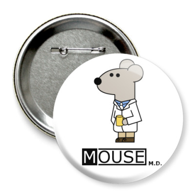 Значок 75мм  Mouse M.D.