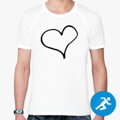Спортивная футболка Чернильное сердце