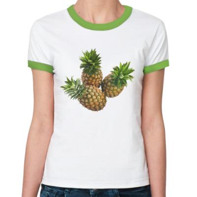Женская футболка Ringer-T Ананас