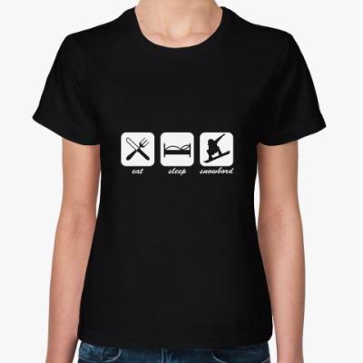 Женская футболка Сноуборд
