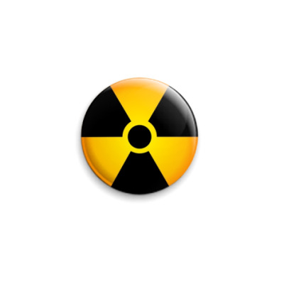 Значок 25мм  Radiation