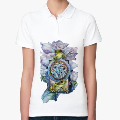 Женская рубашка поло Princess frog