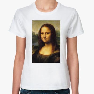 Классическая футболка Мона Лиза Джоконда