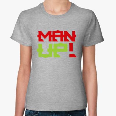 Женская футболка Человечище!