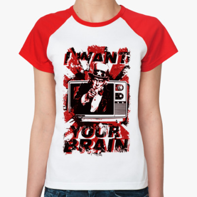 Женская футболка реглан   () TV