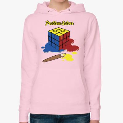 Женская толстовка худи Кубик Рубика | Rubiks Cube