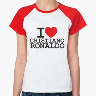 Женская футболка реглан Криштиану Роналду