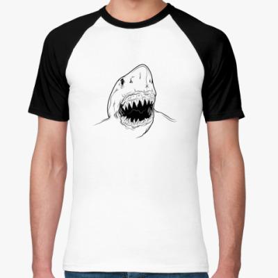 Футболка реглан акула