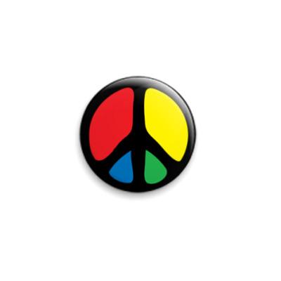 """Значок 25мм  """"PEACE"""" 25 мм"""