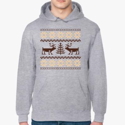 Толстовка худи Орнамент с оленями