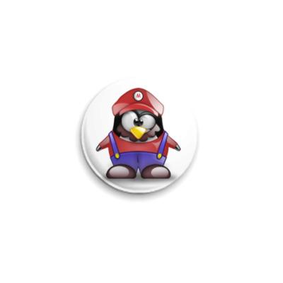 Значок 25мм  Tux Mario