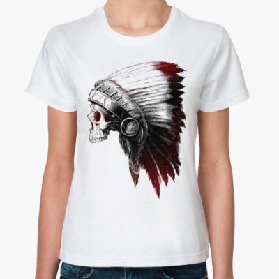 Классическая футболка Череп Индейца