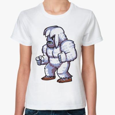 Классическая футболка Снежный человек