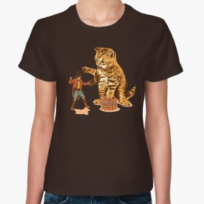 Женская футболка Дрессировщик и Кот