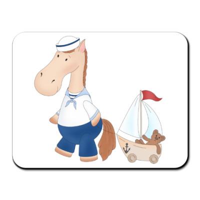 Коврик для мыши 'Лошадка Морячок'