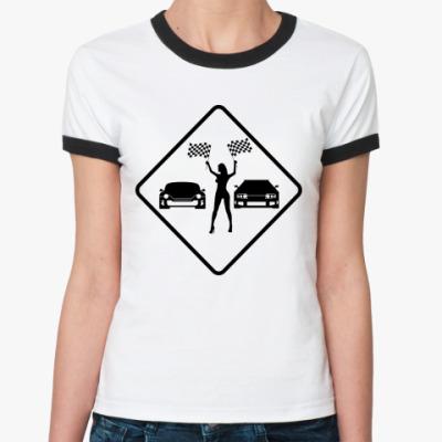 Женская футболка Ringer-T Старт