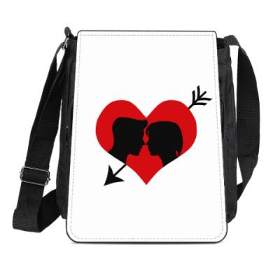 Сумка-планшет Сердце хочет любви