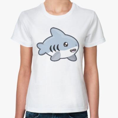 Классическая футболка Акула