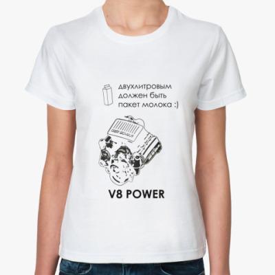 Классическая футболка V8