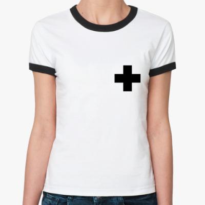 Женская футболка Ringer-T  «Крест»