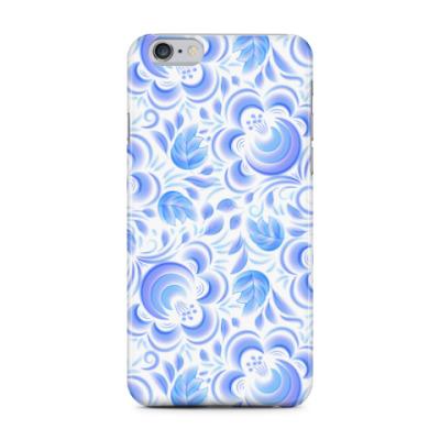 Чехол для iPhone 6 Plus Гжель-акварель