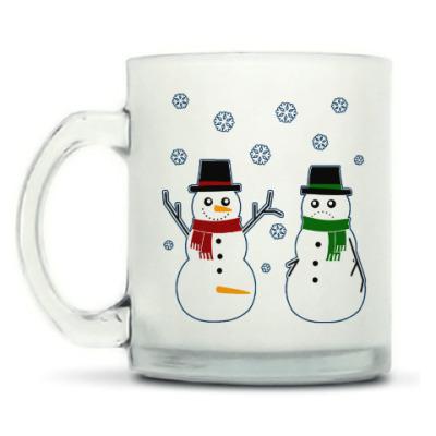 Кружка матовая Happy Snowman