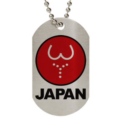 Жетон dog-tag Японская леди