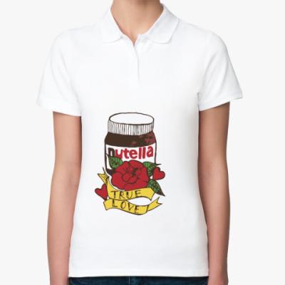 Женская рубашка поло Nutella Нутелла Шоколад