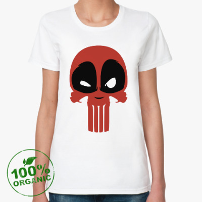 Женская футболка из органик-хлопка Дэдпул Каратель / Deadpool