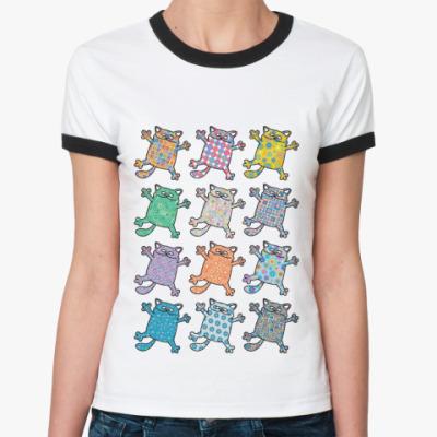 Женская футболка Ringer-T Коты