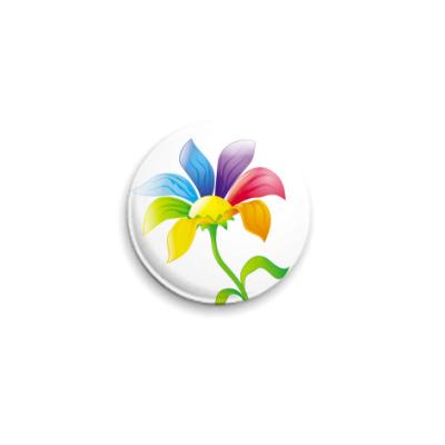 Значок 25мм Цветик-Семицветик