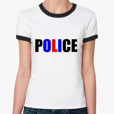 Женская футболка Ringer-T POLICE