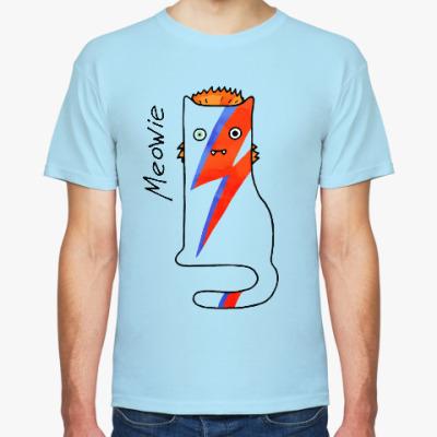 Футболка Кот, похожий на David Bowie