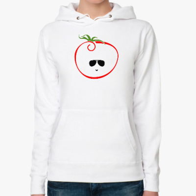 Женская толстовка худи Стильный томат
