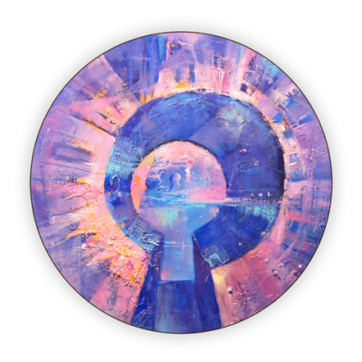 Костер (подставка под кружку) Космическая скважина
