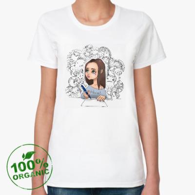 Женская футболка из органик-хлопка Мои милые монстры