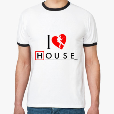 Футболка Ringer-T House love