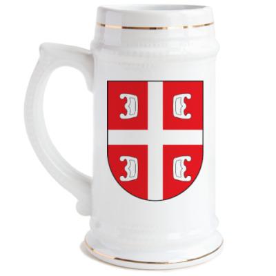 Пивная кружка Сербский щит