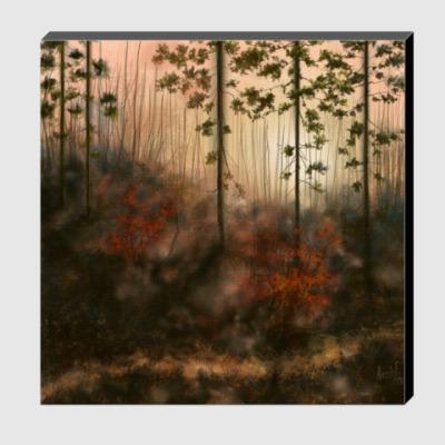 Холст Осенний лес