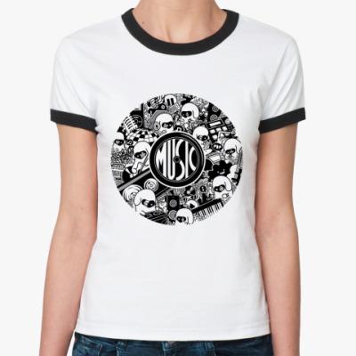 Женская футболка Ringer-T Music  Ж()