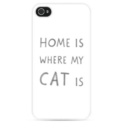 Чехол для iPhone Home is where my iCat is