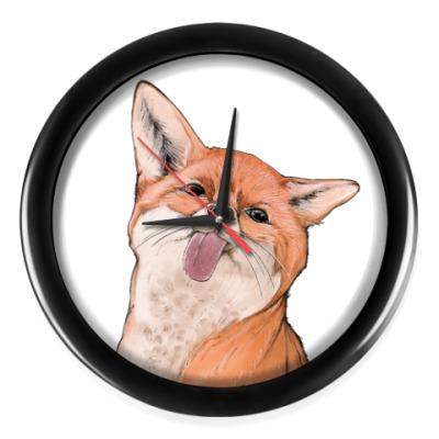 Настенные часы Лиса вредина