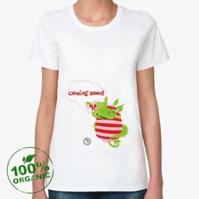 Женская футболка из органик-хлопка Мамам будущих драконят