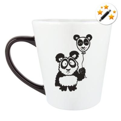 Кружка-хамелеон Панда с шариком