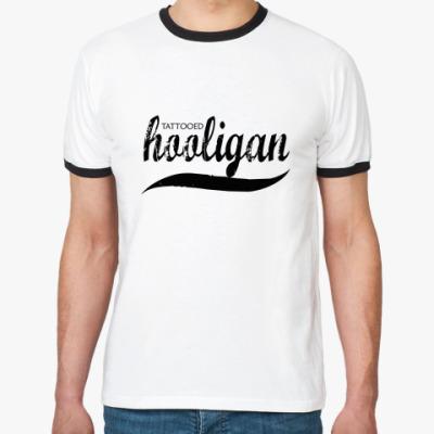 Футболка Ringer-T   HOOLIGAN