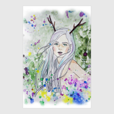 Постер Лесная фея