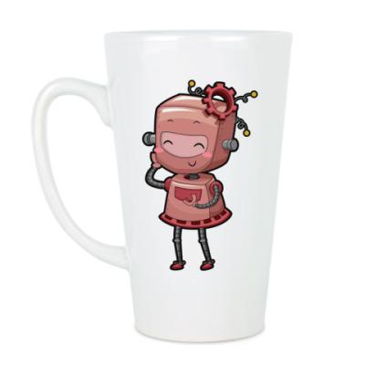 Чашка Латте Робот девушка