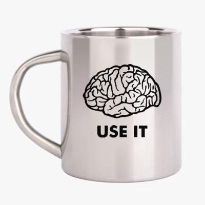 Кружка металлическая Мозг