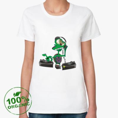 Женская футболка из органик-хлопка DJ Turtle